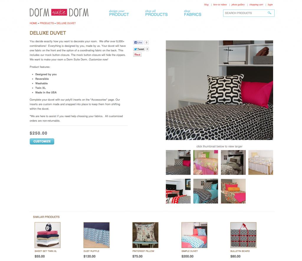 Deluxe Duvet   Dorm Suite Dorm